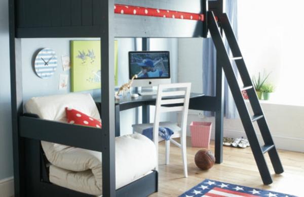 lits-superposés-idées-déco- chambre-garcons
