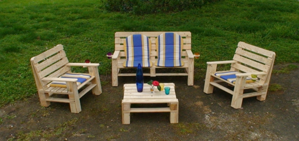 Patio furniture made from pallets maison begge Chaise en bois de palette