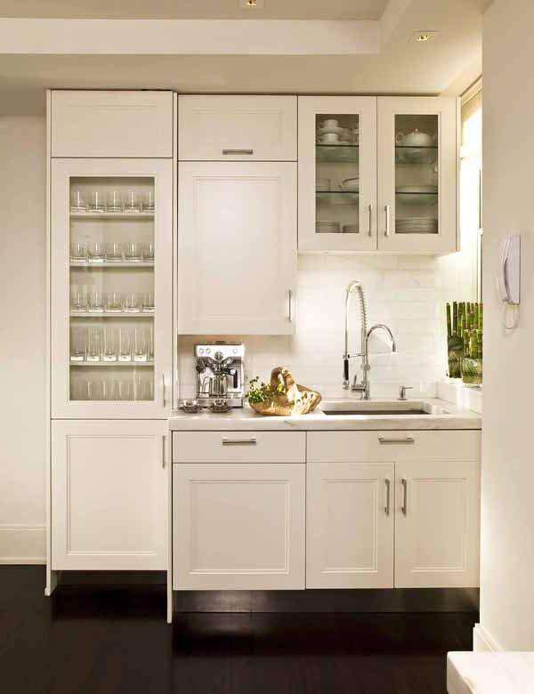 mini-cuisine-amenager-une- petite-cuisine-blanc