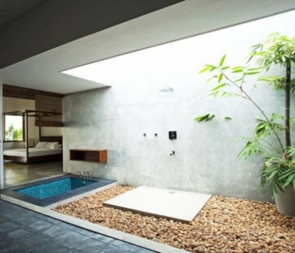 Le modèle de salle de bain extérieur- pureté pour l\'esprit ...