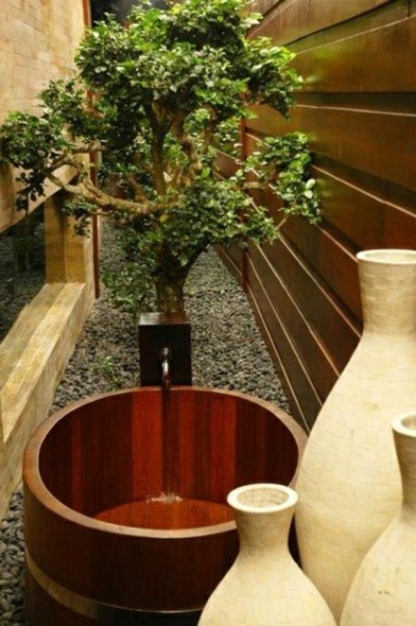 modèle-de-salle-de-bain-contamporai-baignoire-de-bois-minimaliste