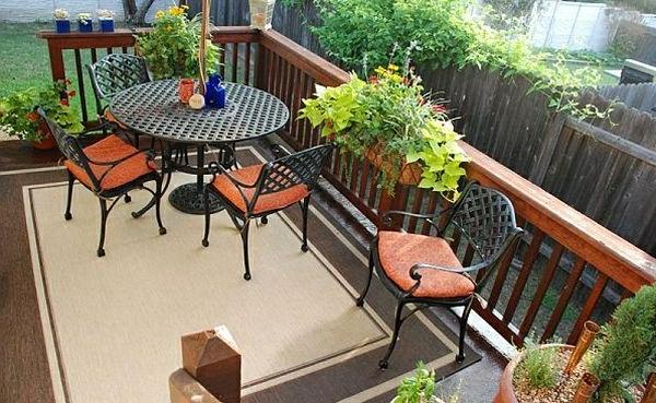 moderne-métal-patio-chaise-bois