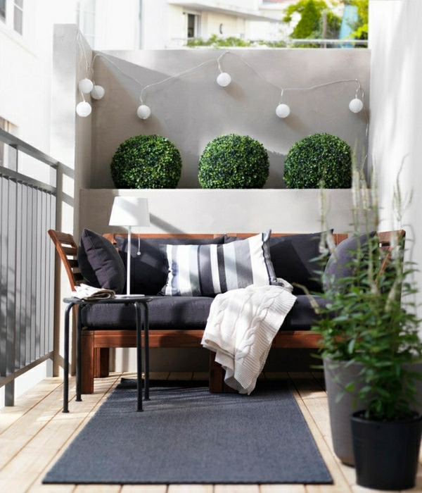 l 39 am nagement d 39 un petit balcon id es pour la petite place verte. Black Bedroom Furniture Sets. Home Design Ideas