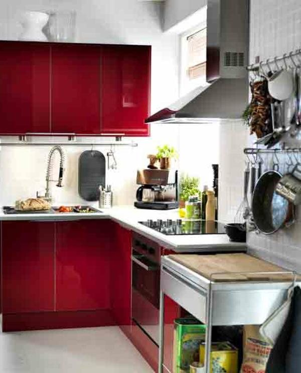 rouge-deco-de-cuisine-outiles-ikea-modèle