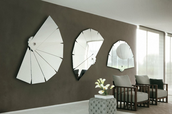 Le grand miroir mural 25 id es pour d 39 arrangement et for Miroir design salon