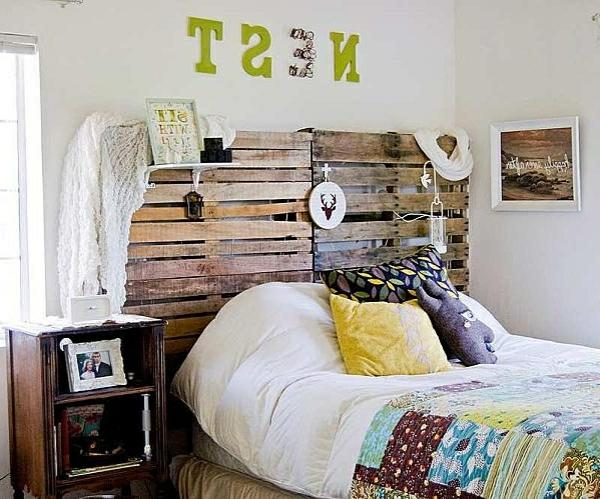 R cup palettes 34 chambres coucher la t te de lit palette - Tete de lit en bois pas cher ...