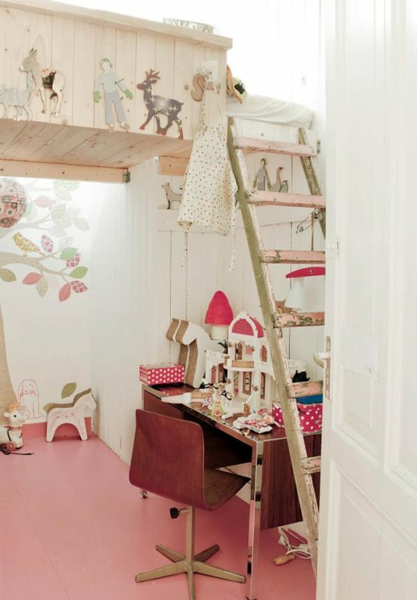 vintage-chambre-a-coucher-enfant-fille