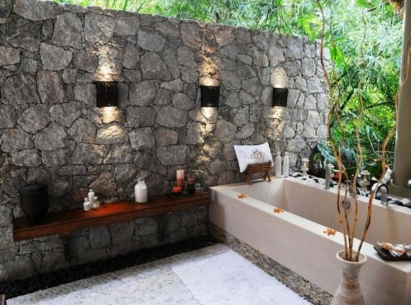 Le mod le de salle de bain ext rieur puret pour l 39 esprit for Style salle de bain zen