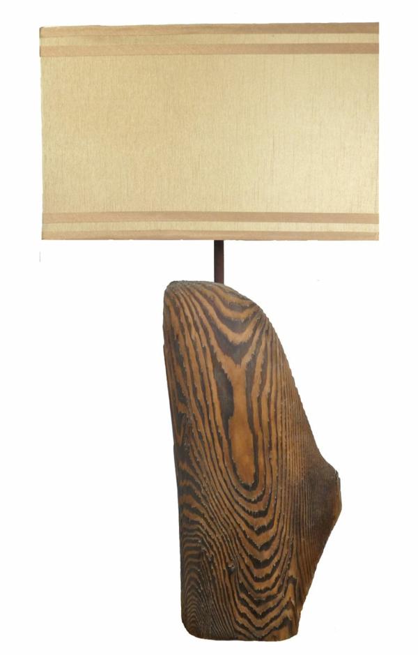 La lampe ronde du bois flotté est si jolie!