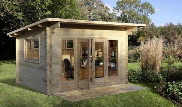 Un abri de jardin design differents for Abri de jardin bois contemporain