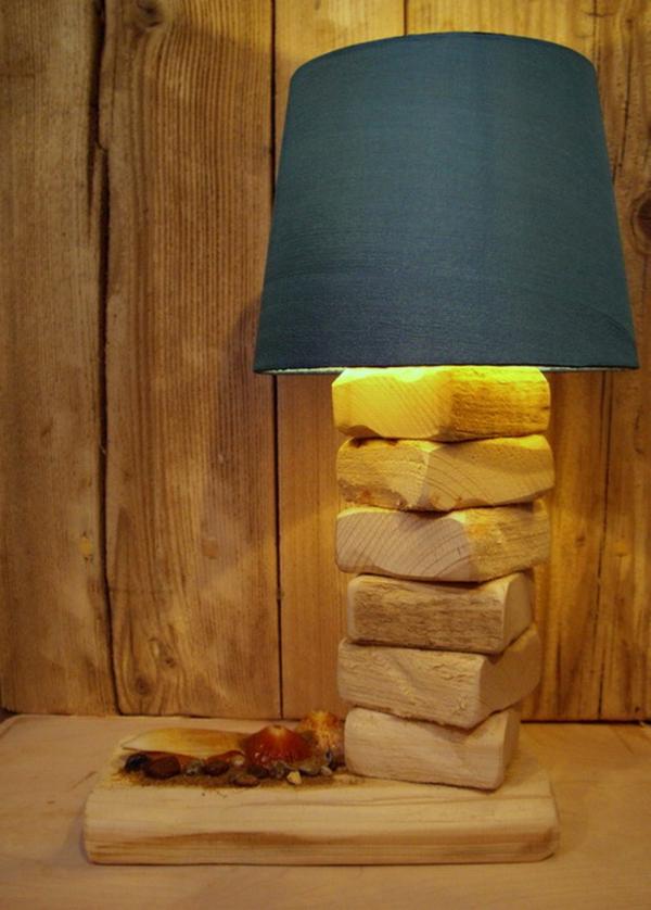 bleu-plafonier-lampe-bois-flotté