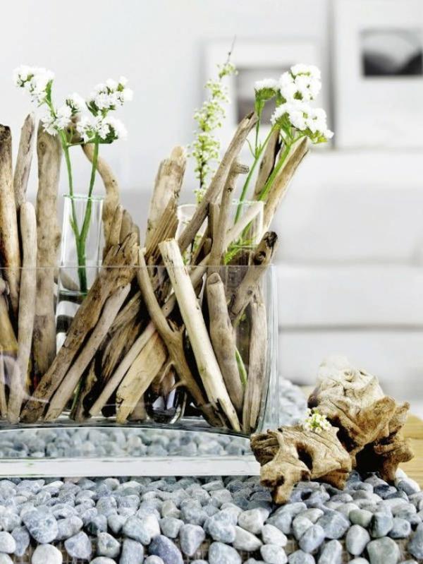 Dekoration Mit Holz Und Blumen ~ Comment faire décoration en bois flotté ?