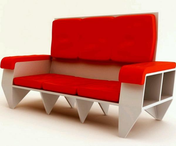 canapé-moderne-design-rouge-art