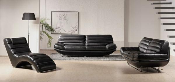 canape moderne en noir pour le salon