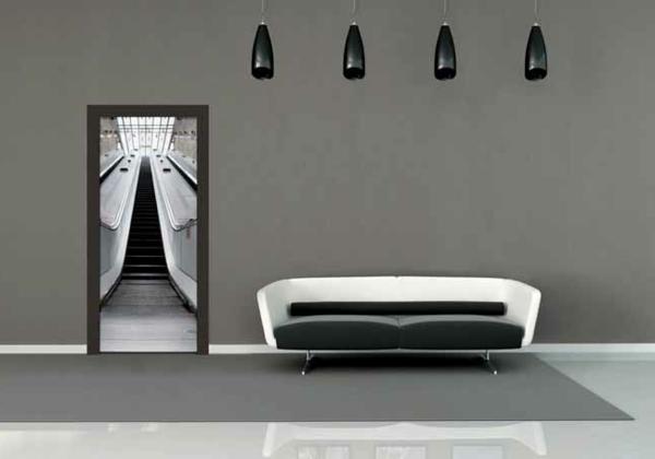 black and white modern interior