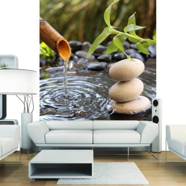 Bonne id e posters et photos mureaux de chantemur - Decoratie salle de bain zen bambou ...
