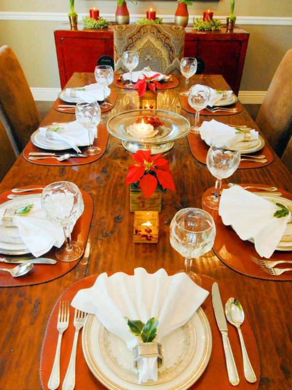 La d coration de table pour no l plaisir et style for Decoration table de noel