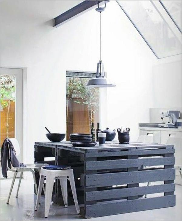 La cuisine avec ilot central idees de decoration et for Idee deco cuisine avec lit rond