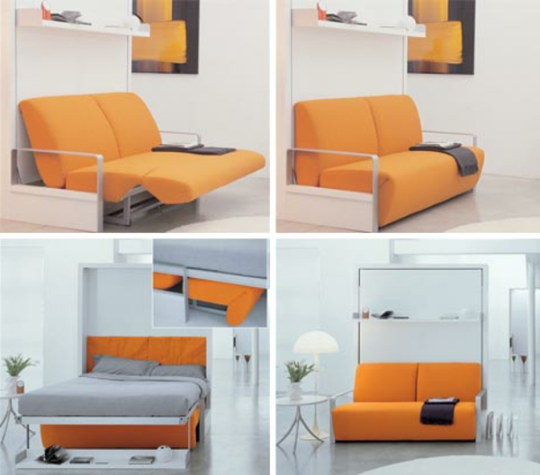 contemporain-design-pratique-canapé-convertible-orange