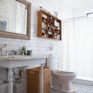 La décoration de salle de bain - si mignon en vintage style!