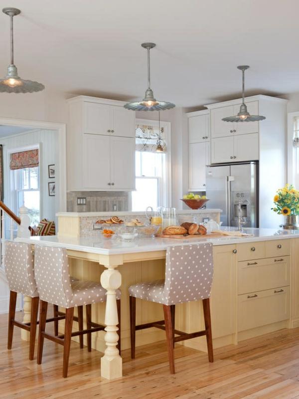 La cuisine avec îlot central  idées de décoration et