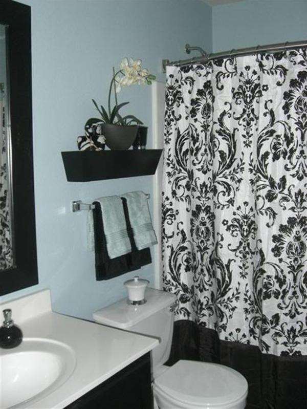 décoration-de-salle-de-bain-blan-noir