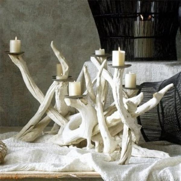décoration-en-bois-flotté-blanc