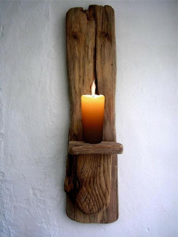 décoration-en-bois-flotté-bougie
