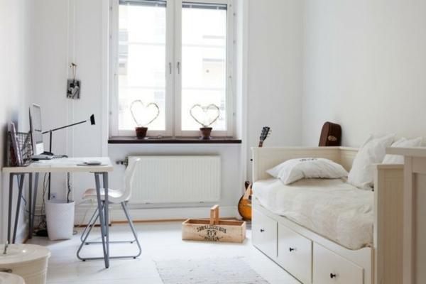 24 id es pour la d coration chambre ado - Decoration chambre blanche ...