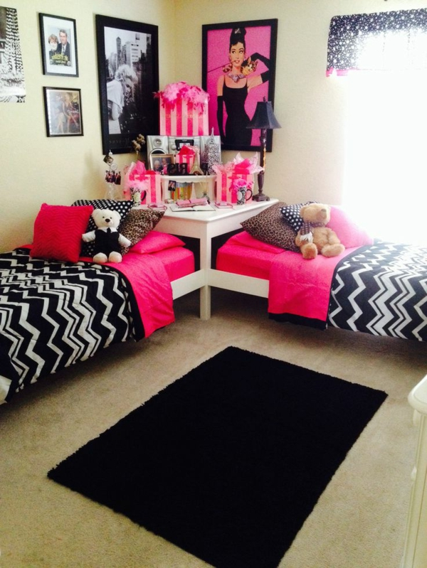 pin chambre ado fille juniorama on pinterest. Black Bedroom Furniture Sets. Home Design Ideas