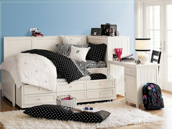 24 id es pour la d coration chambre ado. Black Bedroom Furniture Sets. Home Design Ideas