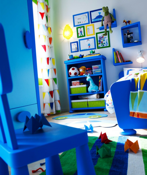 Ikea Chambre Fille : ikea-chambre-ado-garçon-bleu