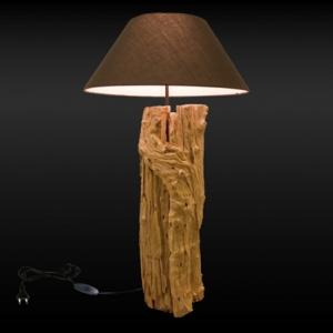 Comment faire une lampe en bois flotté ?