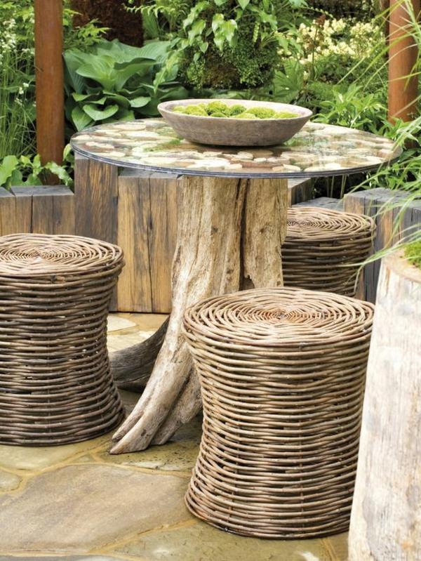 mobilier-de-jardin-de-rotin