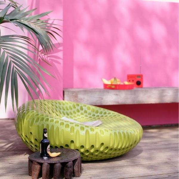 mobilier-de-jardin-vert-fouteuil-original