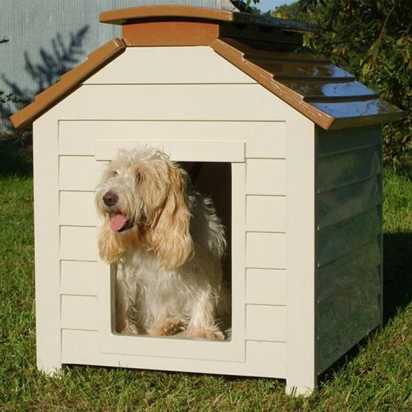 niche-pour-chien-blanc