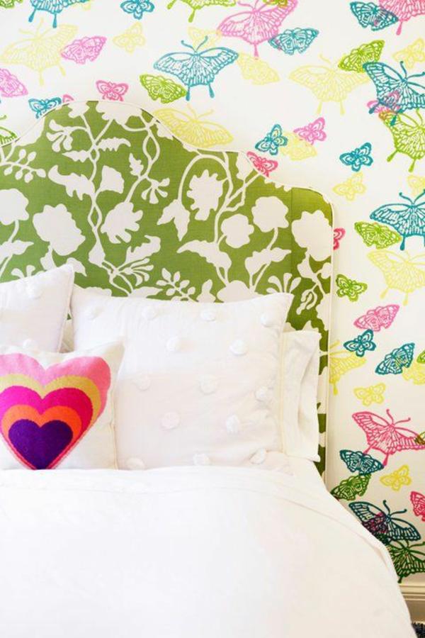 papier-peint-décoration-chambre-ado-fille-floral