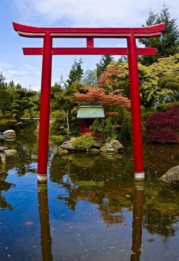Modèles du jardin japonais , rien n'est plus exotique ...
