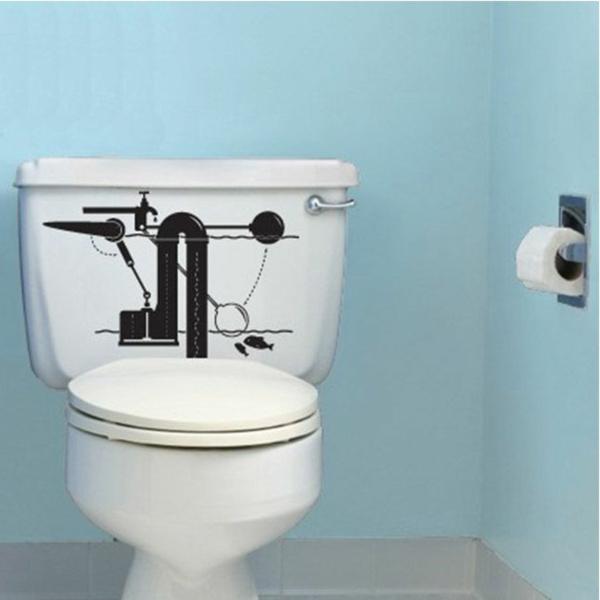 Id e novateur stickers muraux pas cher pour la d co de - Revetements muraux salle de bain ...