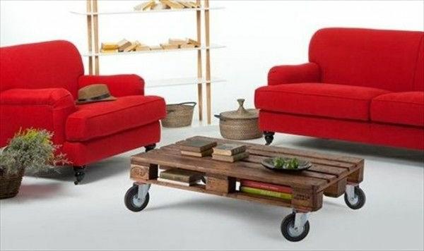 table-basse-en-palette-avec-roues