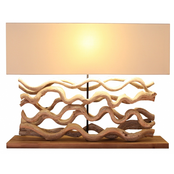 Comment faire une lampe en bois flott for Lampe en bois flotte creation