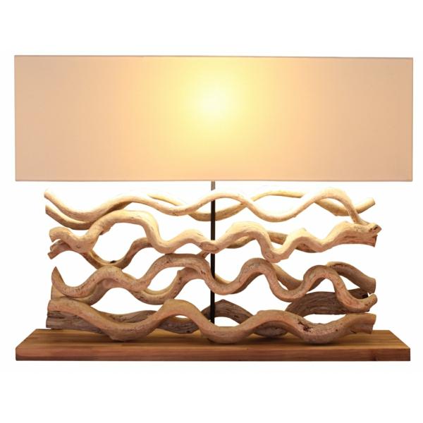 table-lampe-bois-flotté-sclupture-longue-