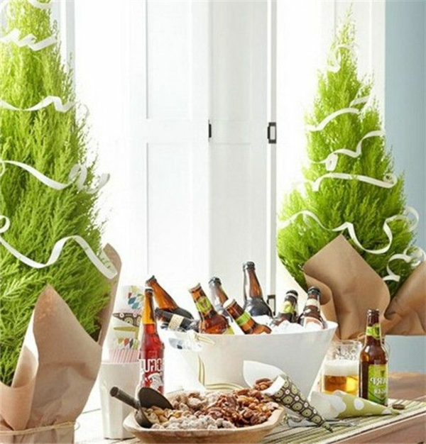 vert-chaud-temp-decoration-table-de-noel-
