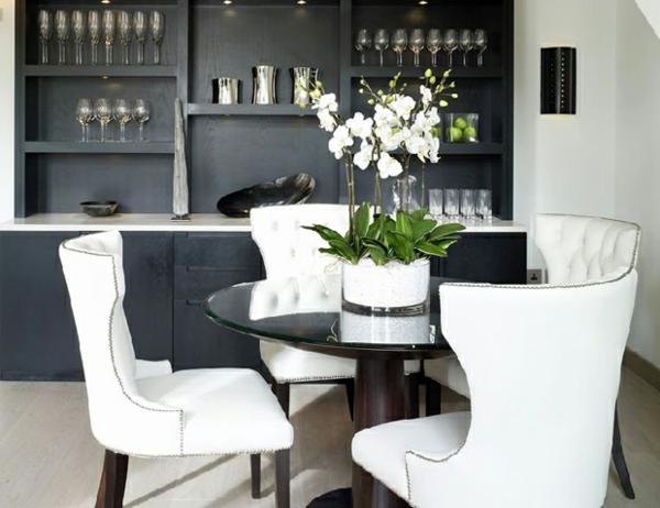 élégante-deco-de-table-noir-et-blanc