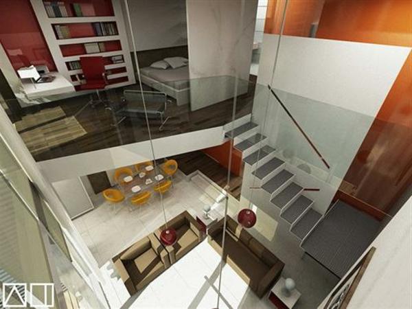 Design duplex appartement for Appartement duplex design