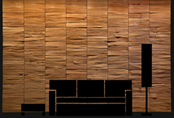 une d coration en bois pour le mur. Black Bedroom Furniture Sets. Home Design Ideas