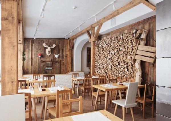 Une d233coration en bois pour le mur Archzinefr : bois de chauffage dcoration1 from archzine.fr size 600 x 427 jpeg 209kB