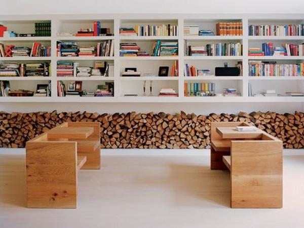 Mur En Bois Interieur Decoratif : salon d?coration en bois de chauffage