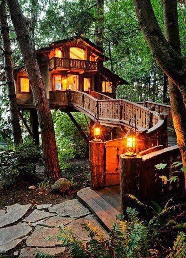 Objet Deco Salle De Bain Zen : Une cabane dans les arbres luxe – nature et chic