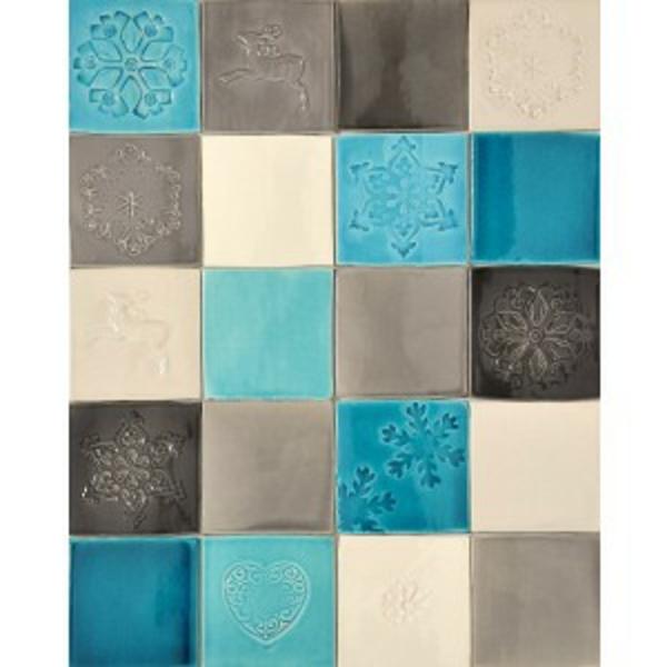 Salle de bain avec carrelage turquoise for Carrelage bleu pour salle de bain